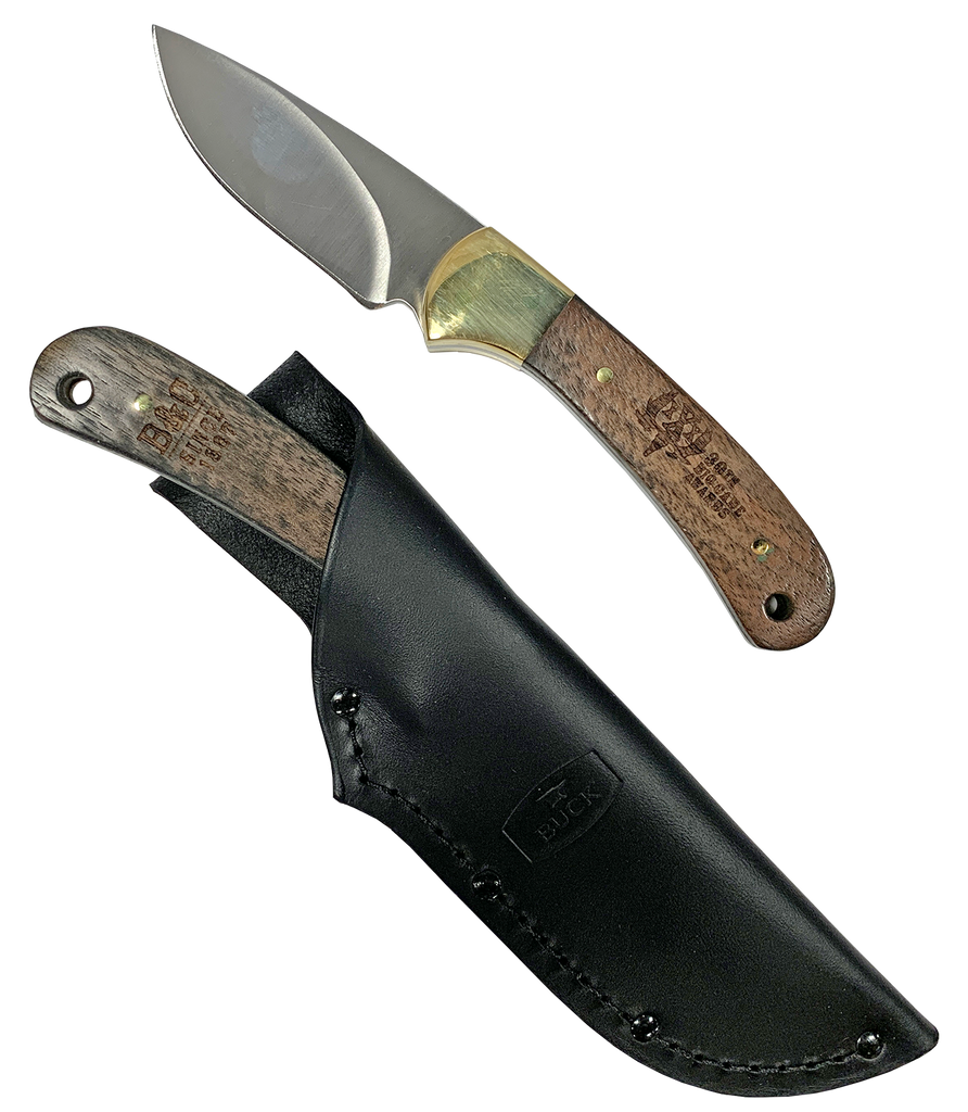 30th Awards Buck Knife – Walnut Skinner with Sheath
