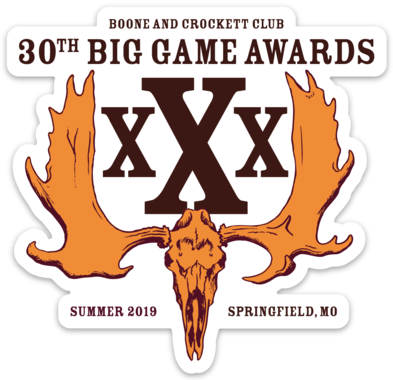30th Awards Decal - White Die-Cut