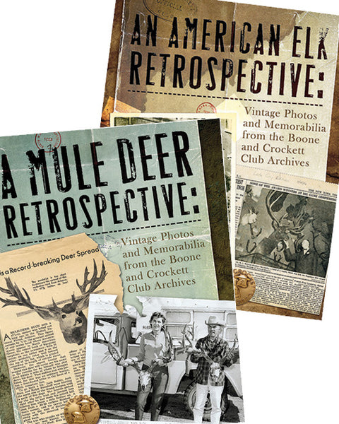 Become a Sportsman Associate and receive An American Elk Retrospective and A Mule Deer Retrospective for Free!