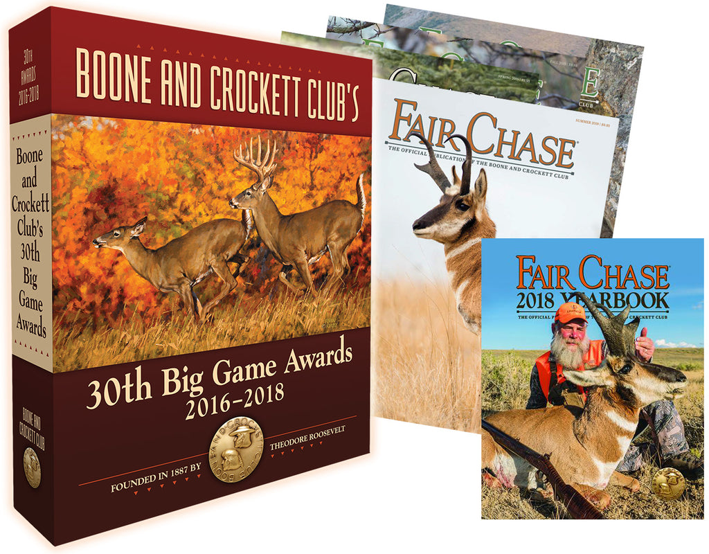 Boone and Crockett Club's 30th Big Game Awards Book and Associates Sign Up Package