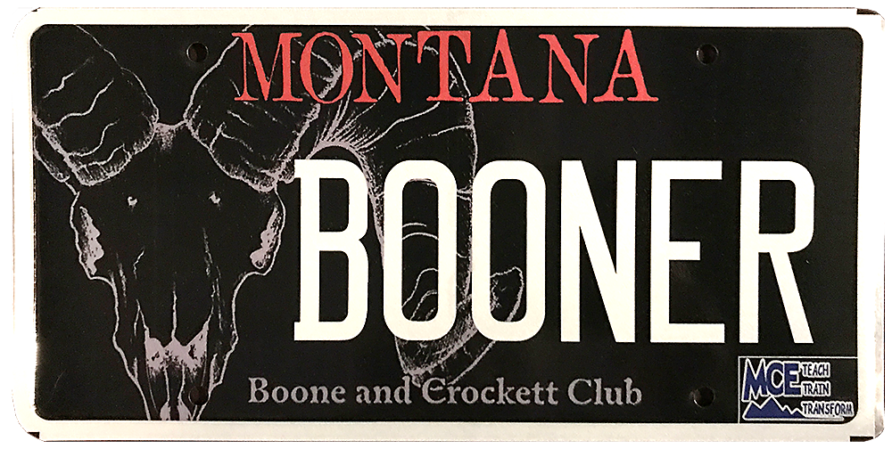 Boone and Crockett MONTANA License Plate