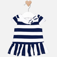 MAYORAL 1814 NAVY STRIPES DRESS IN STOCK