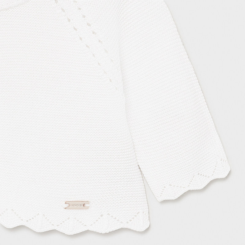 MAYORAL 325 WHITE CARDIGAN IN STOCK
