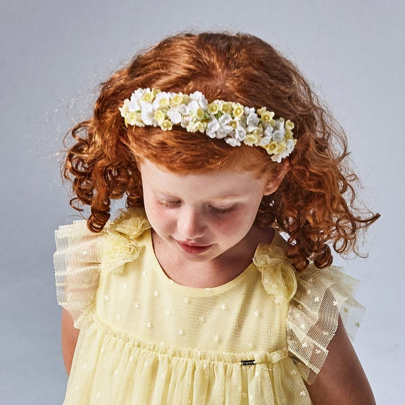 PRE-ORDER MAYORAL 10069 YELLOW FLORAL HEADBAND