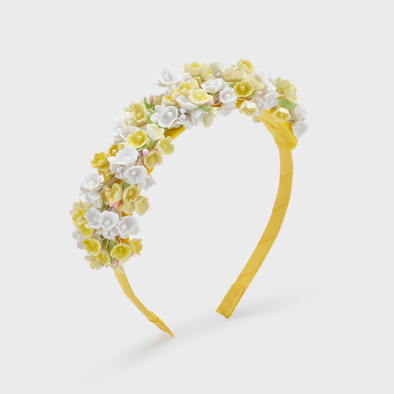 MAYORAL 10069 YELLOW FLORAL HEADBAND IN STOCK
