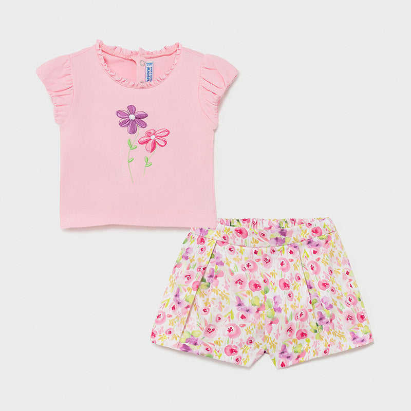 MAYORAL 1234 ROSE SHORT SET IN STOCK