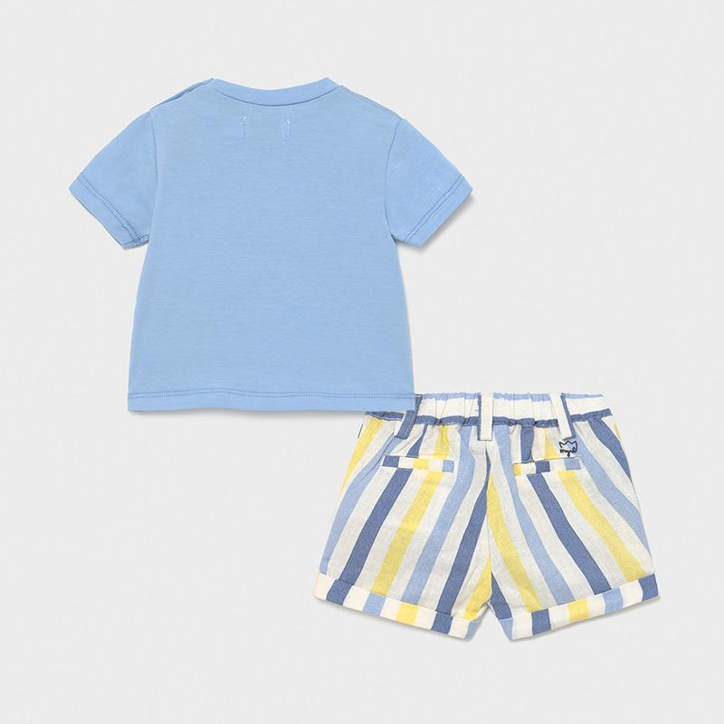 MAYORAL 1216 BLUE TEE-SHIRT AND SHORT SET - Cherubs