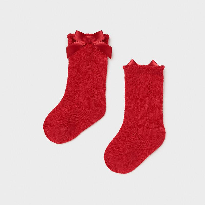 MAYORAL 9368 RED HIGH SOCKS - Cherubs