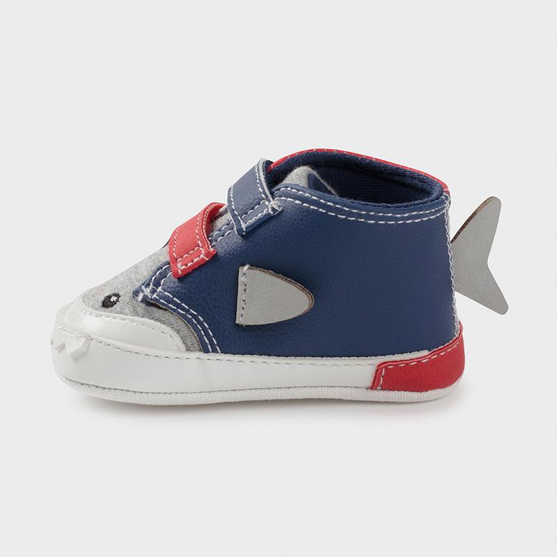 MAYORAL 9398 TOMATO RED SHARK TRAINERS - Cherubs