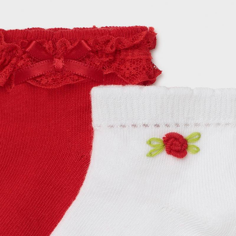 PRE-ORDER MAYORAL 10011 POPPY TWO PAIR SOCKS SET - Cherubs