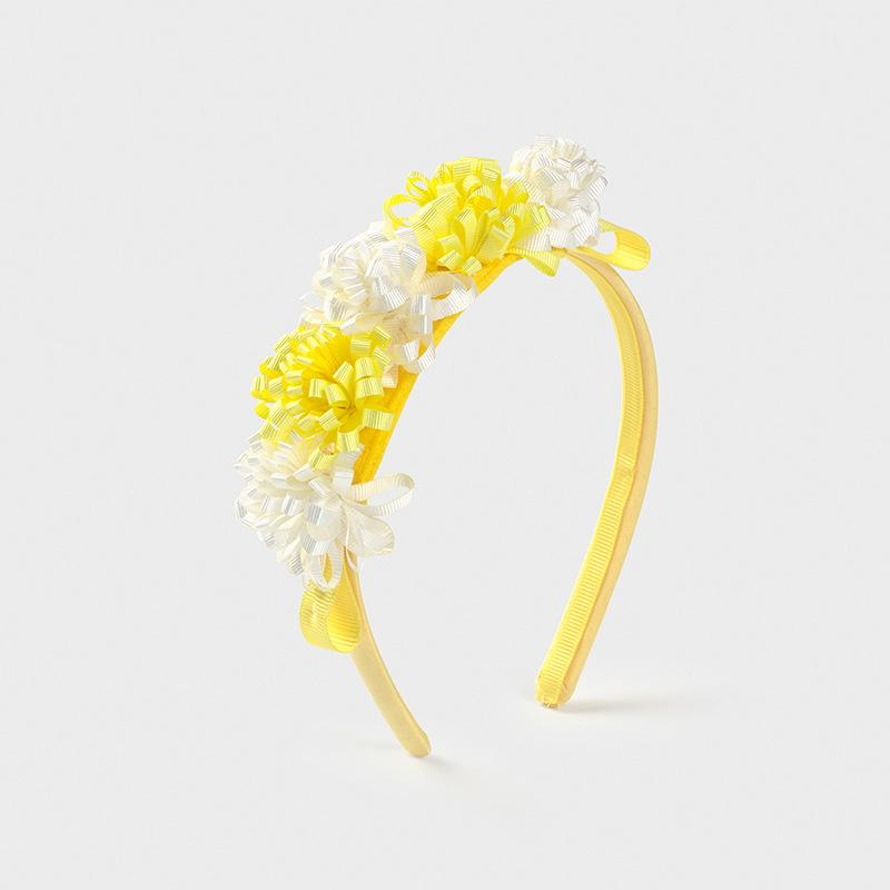 PRE-ORDER MAYORAL 10029 YELLOW FLOWER HEADBAND - Cherubs