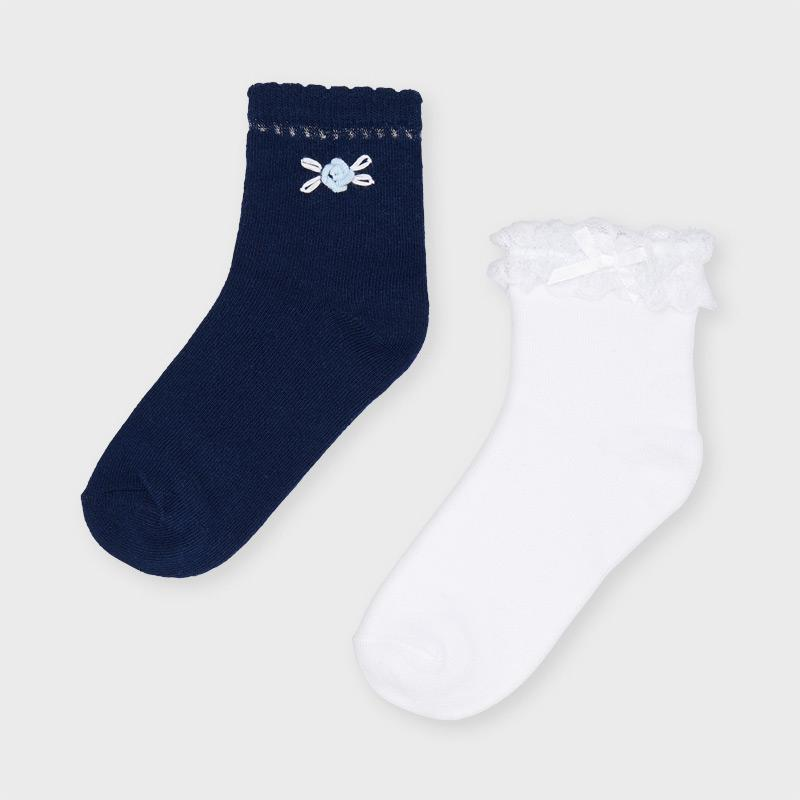 PRE-ORDER MAYORAL 10056 INK TWO PAIR SOCKS SET - Cherubs