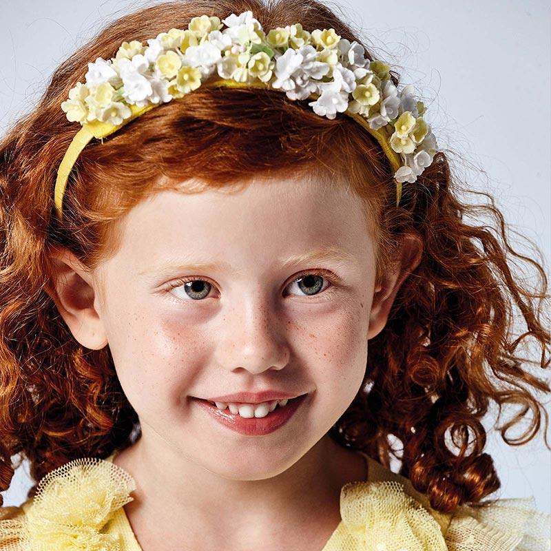 PRE-ORDER MAYORAL 10069 YELLOW FLORAL HEADBAND - Cherubs