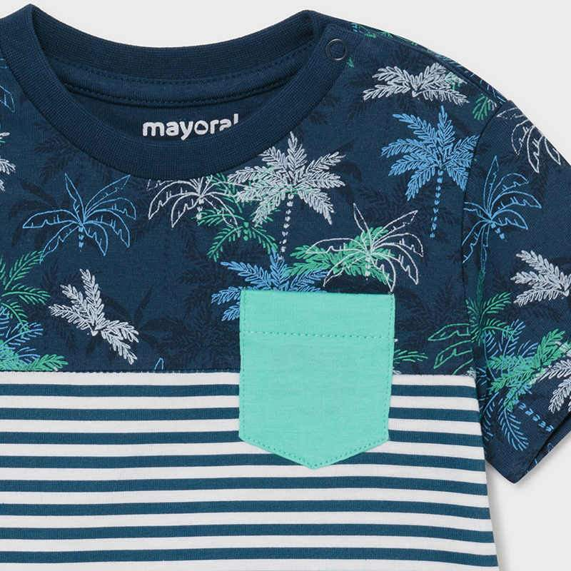 PRE-ORDER MAYORAL 1014 BLUE SHORT SLEEVE TEE-SHIRT - Cherubs