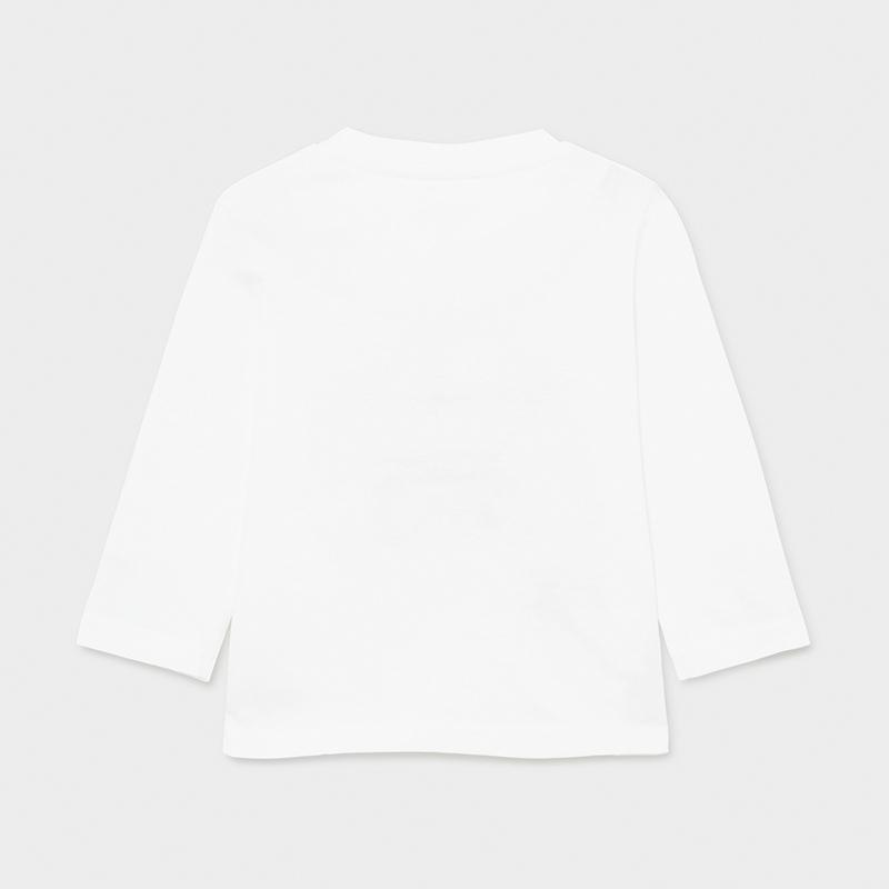 PRE-ORDER MAYORAL 1017 WHITE LONG SLEEVE TEE-SHIRT - Cherubs