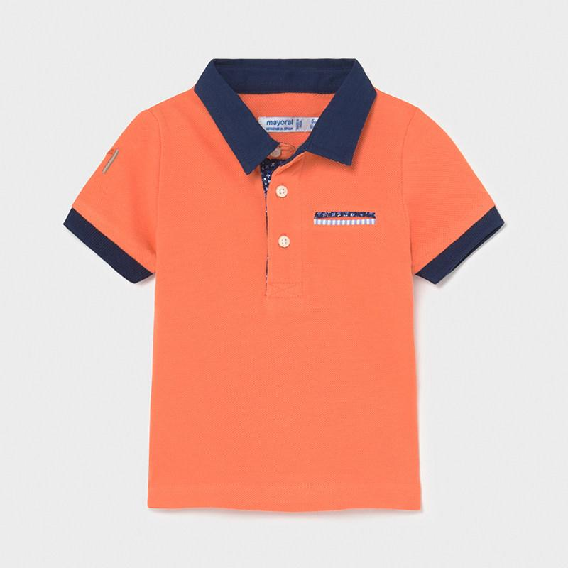 PRE-ORDER MAYORAL 1108 APRICOT SHORT SLEEVE POLO SHIRT - Cherubs