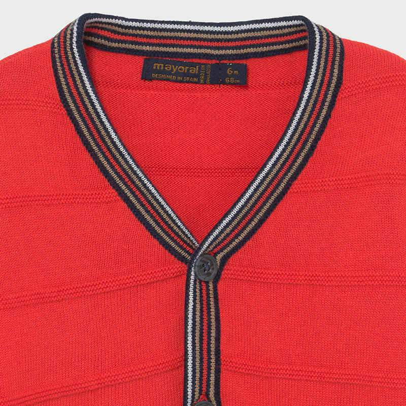 PRE-ORDER MAYORAL 1343 CYBER RED CARDIGAN - Cherubs