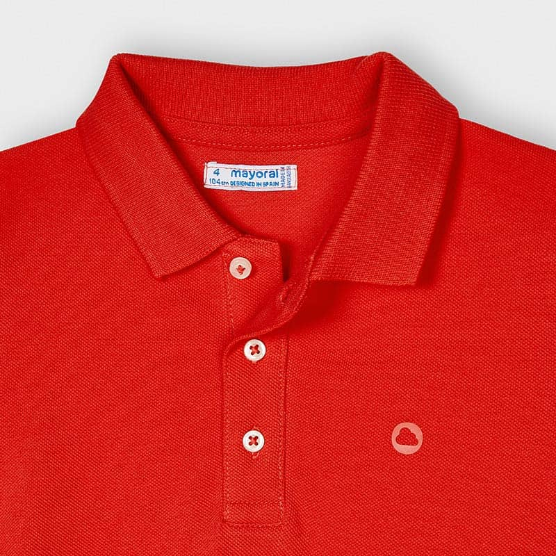 PRE-ORDER MAYORAL 150 CYBER RED SHORT SLEEVE POLO SHIRT - Cherubs