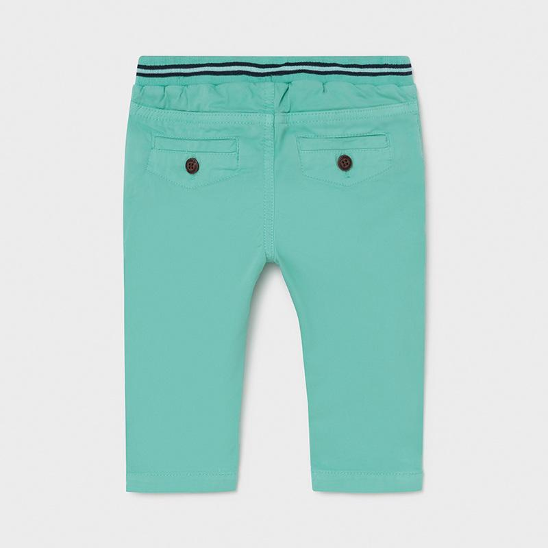 PRE-ORDER MAYORAL 1585 AQUA TWILL TROUSERS - Cherubs