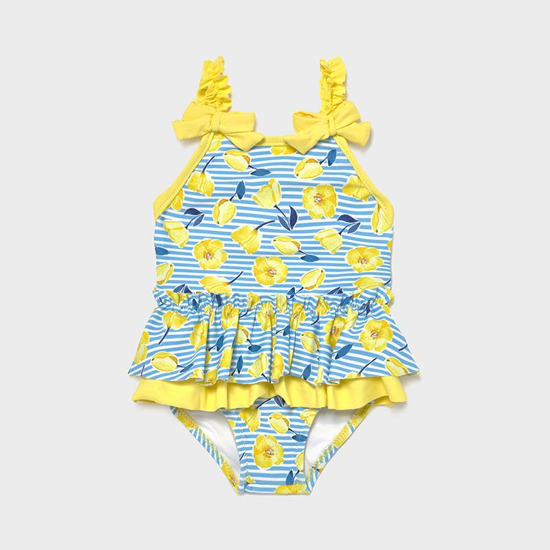 PRE-ORDER MAYORAL 1719 YELLOW SWIMSUIT - Cherubs