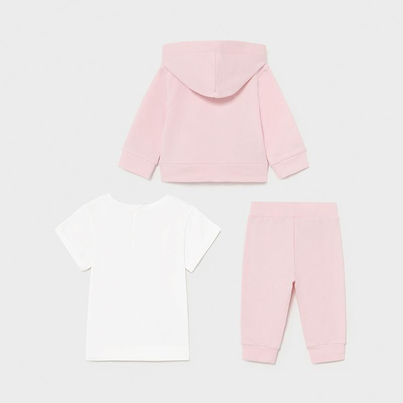 PRE-ORDER MAYORAL 1843 ROSE THREE PIECE TRACKSUIT - Cherubs