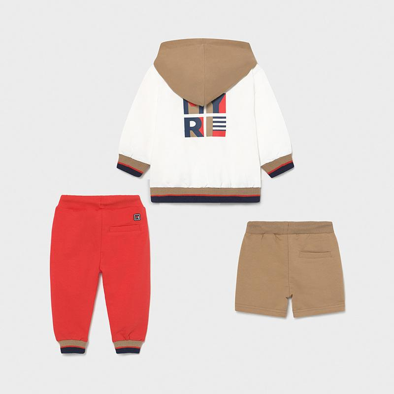 PRE-ORDER MAYORAL 1845 CYBER RED THREE PIECE TRACKSUIT - Cherubs