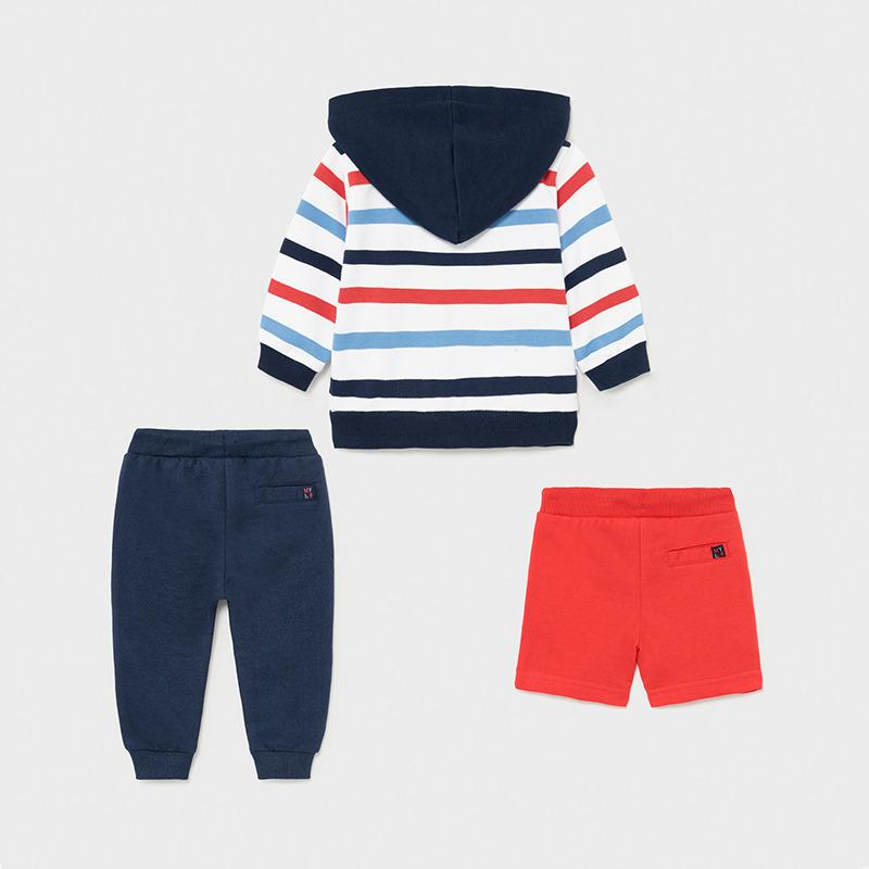 PRE-ORDER MAYORAL 1846 CYBER RED THREE PIECE TRACKSUIT - Cherubs