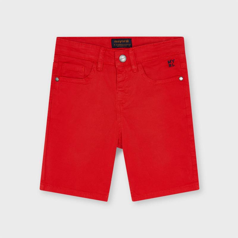 PRE-ORDER MAYORAL 204 RED TWILL SHORTS - Cherubs