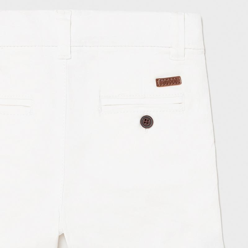 PRE-ORDER MAYORAL 207 WHITE CHINO SHORTS - Cherubs