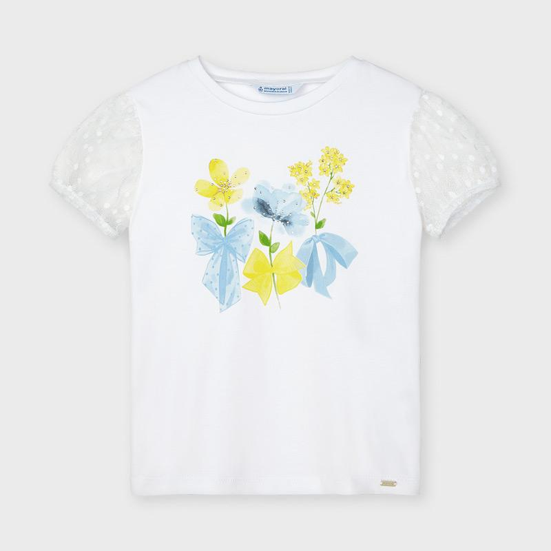 PRE-ORDER MAYORAL 3001 YELLOW SHORT SLEEVE TEE-SHIRT - Cherubs