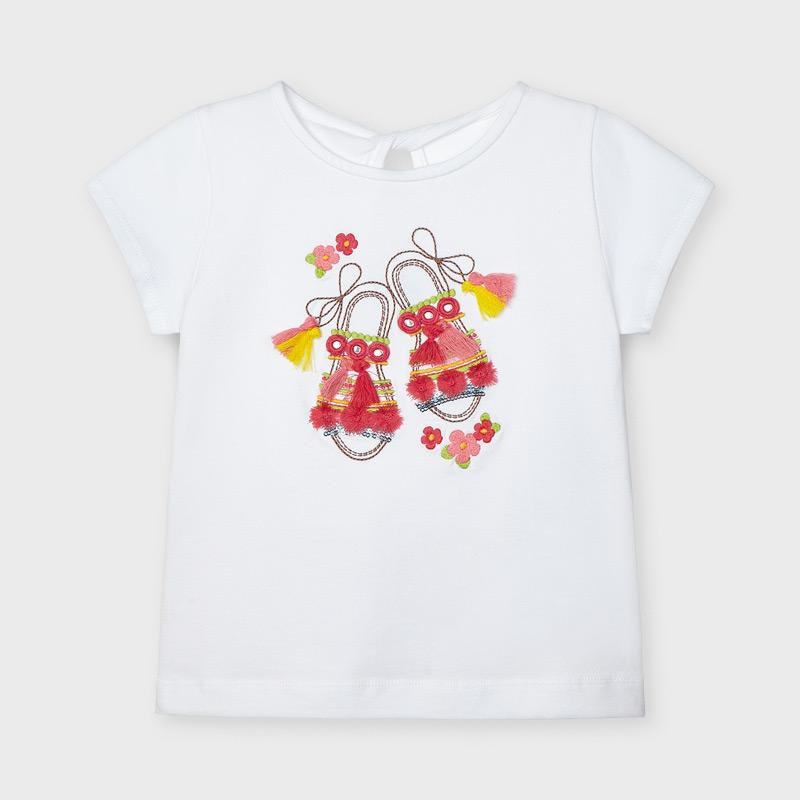 PRE-ORDER MAYORAL 3014 WHITE SHORT SLEEVE TEE-SHIRT - Cherubs