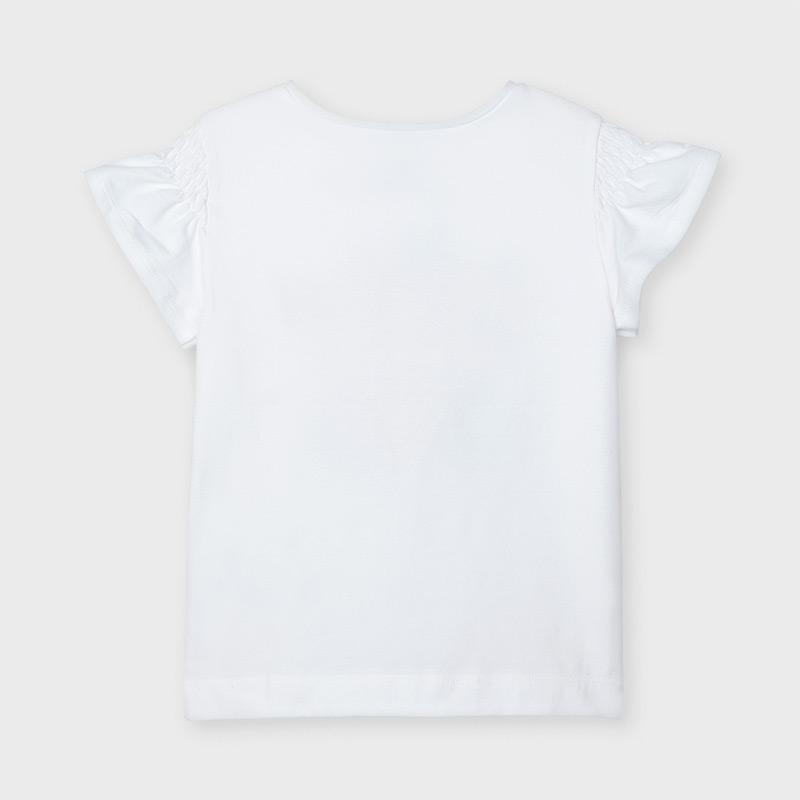 PRE-ORDER MAYORAL 3019 WHITE SHORT SLEEVE TEE-SHIRT - Cherubs