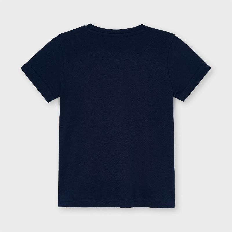 PRE-ORDER MAYORAL 3047 NAVY SHORT SLEEVE TEE-SHIRT - Cherubs