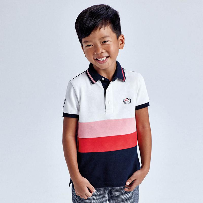 PRE-ORDER MAYORAL 3109 CYBER RED SHORT SLEEVE POLO SHIRT - Cherubs