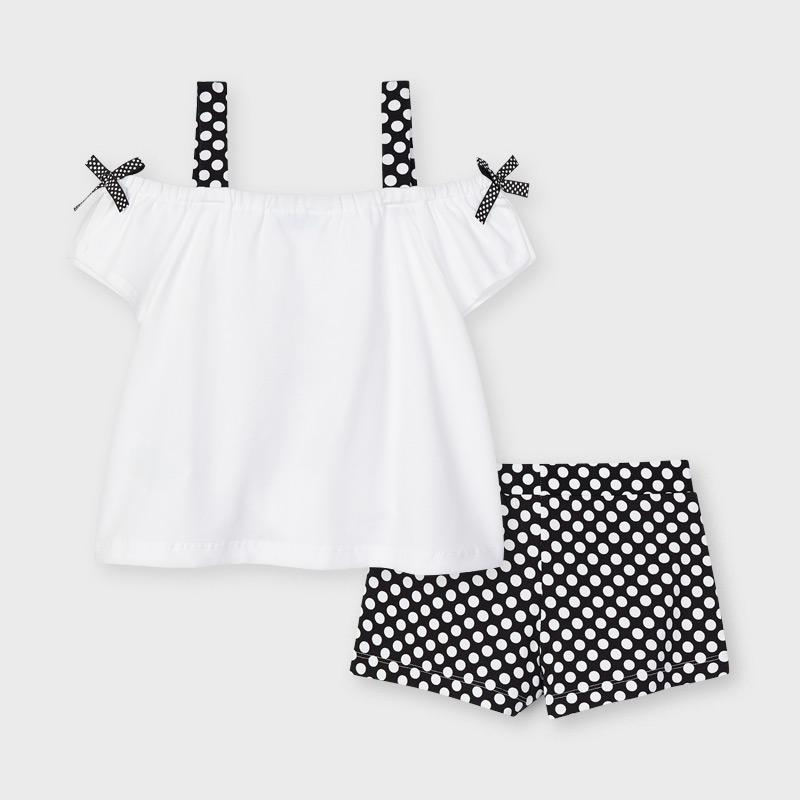 PRE-ORDER MAYORAL 3213 BLACK SHORT SET - Cherubs