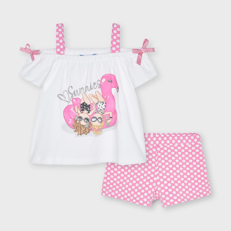 PRE-ORDER MAYORAL 3213 CAMELLIA SHORT SET - Cherubs