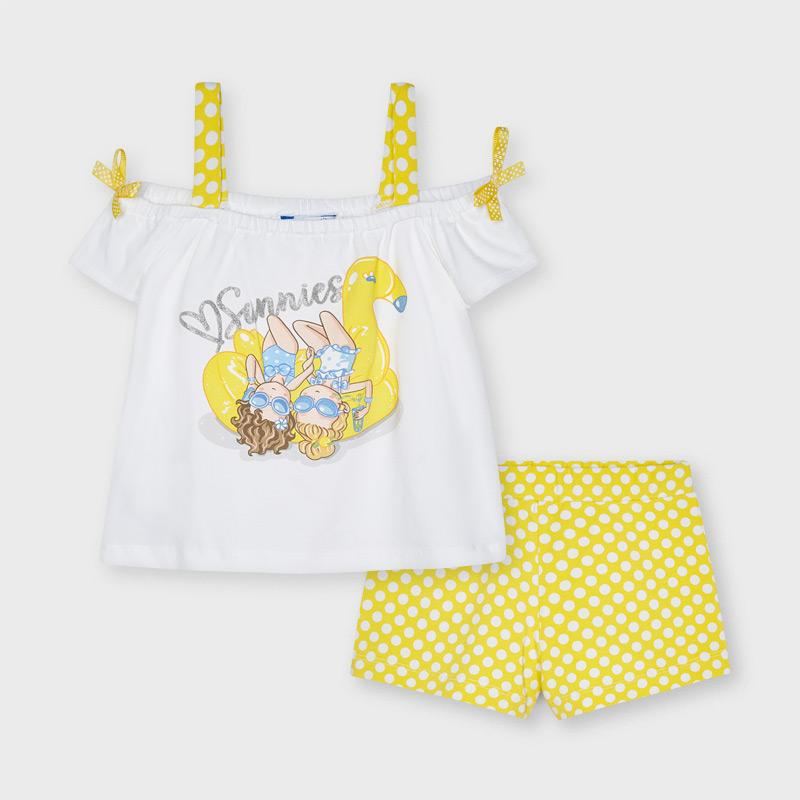 PRE-ORDER MAYORAL 3213 YELLOW SHORT SET - Cherubs