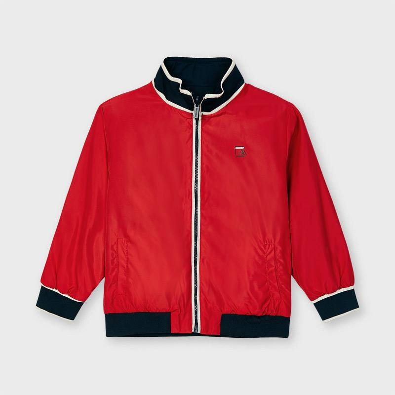 PRE-ORDER MAYORAL 3422 RED REVERSIBLE COAT - Cherubs