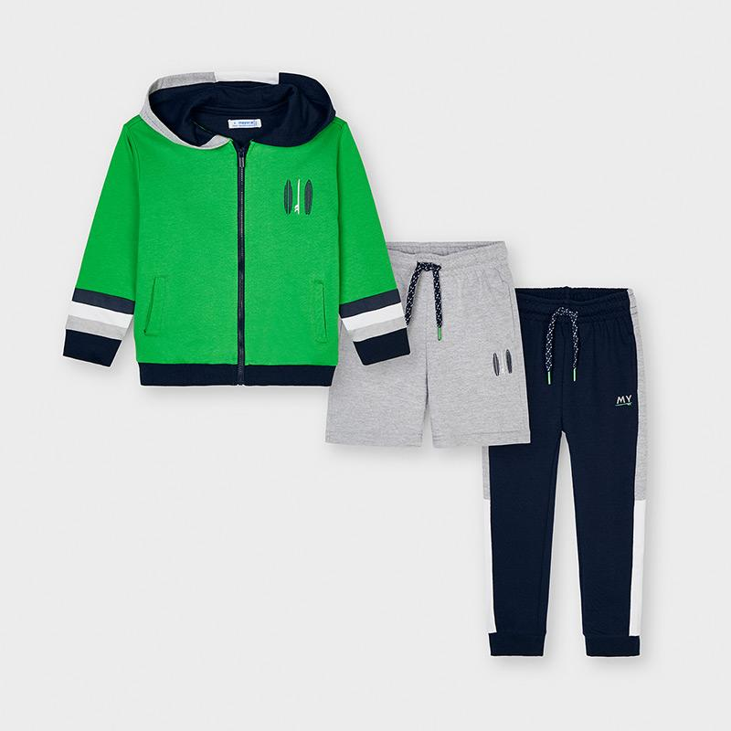 PRE-ORDER MAYORAL 3827 MATCHA THREE PIECE TRACKSUIT - Cherubs