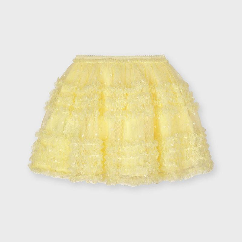 PRE-ORDER MAYORAL 3901 YELLOW TULLE SKIRT - Cherubs