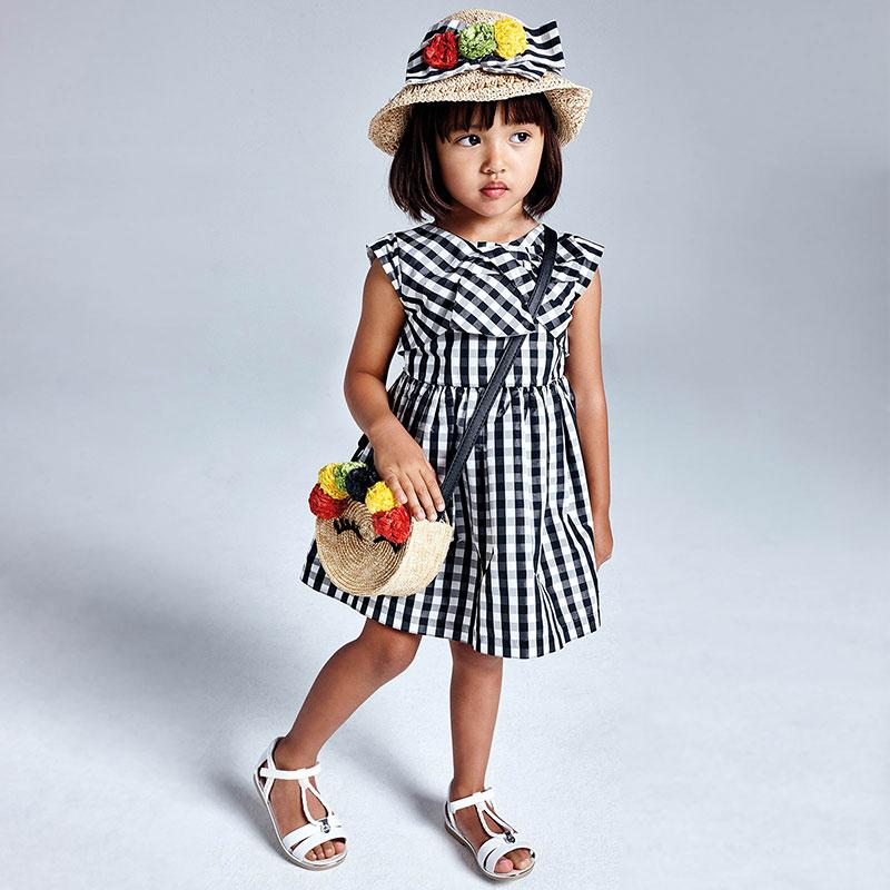 PRE-ORDER MAYORAL 3928 BLACK GINGHAM DRESS - Cherubs