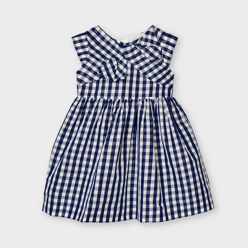 PRE-ORDER MAYORAL 3928 INK GINGHAM DRESS - Cherubs