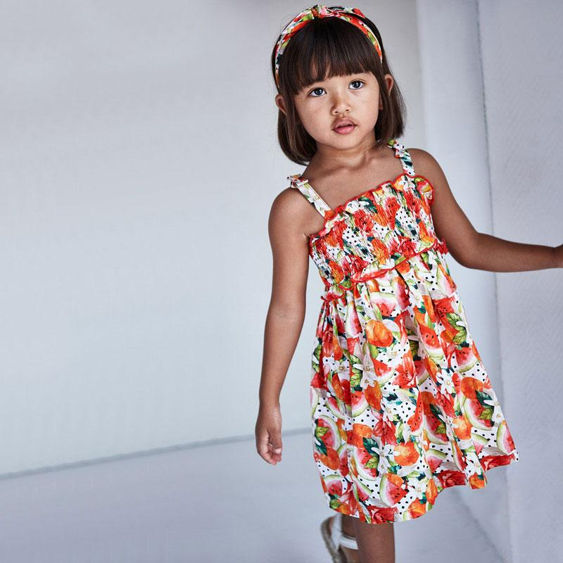 PRE-ORDER MAYORAL 3954 PISTACHIO DRESS & HEADBAND - Cherubs
