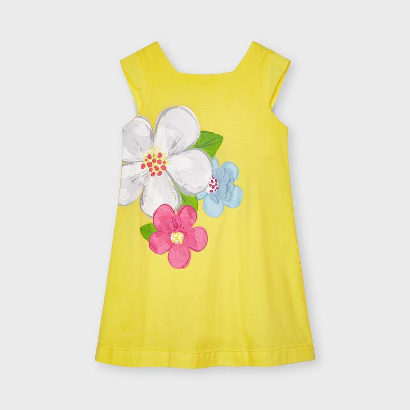 PRE-ORDER MAYORAL 3956 YELLOW DRESS - Cherubs