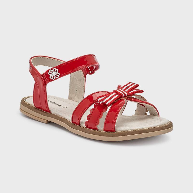 PRE-ORDER MAYORAL 43273 RED PATENT SANDALS - Cherubs