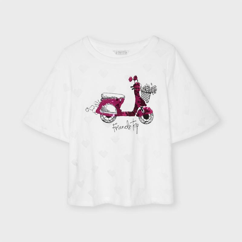PRE-ORDER MAYORAL 6008 WHITE TEE-SHIRT - Cherubs