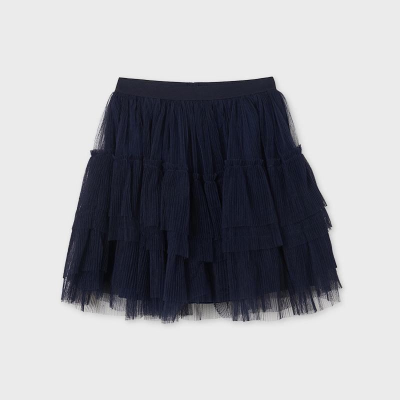 PRE-ORDER MAYORAL 6902 NAVY TULLE SKIRT - Cherubs
