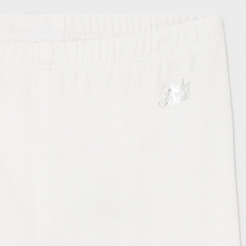 PRE-ORDER MAYORAL 706 WHITE SHORT LEGGINGS - Cherubs