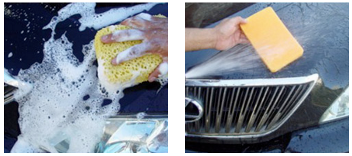 Do not wash or apply Tech Shine in direct sunlight. If vehicle is dirty wash first, rinse,and DO NOT DRY.