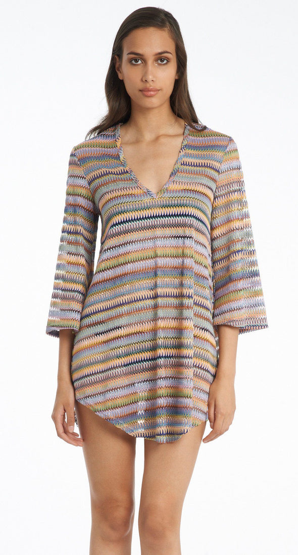 BELL SLEEVE SHIRT TAIL TUNIC - Jordan Taylor Beachwear